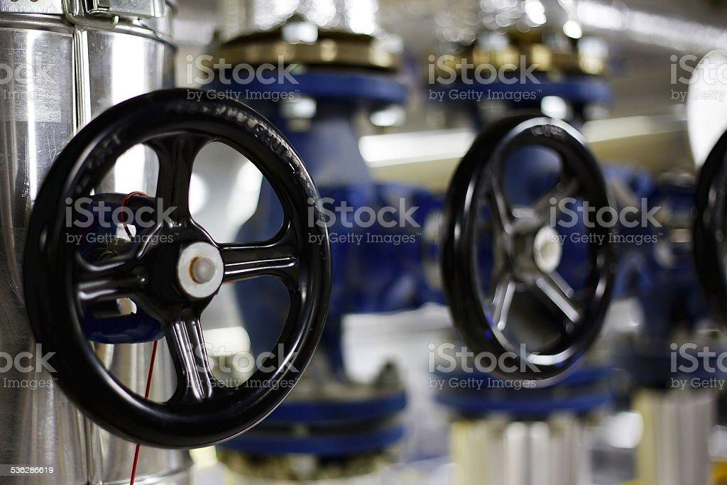 Industrial valves stock photo