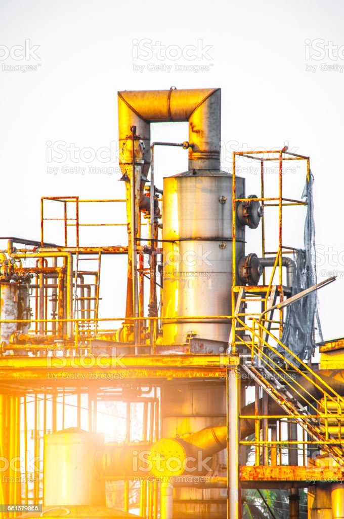 Industrial view at oil refinery plant form industry zone royalty-free stock photo
