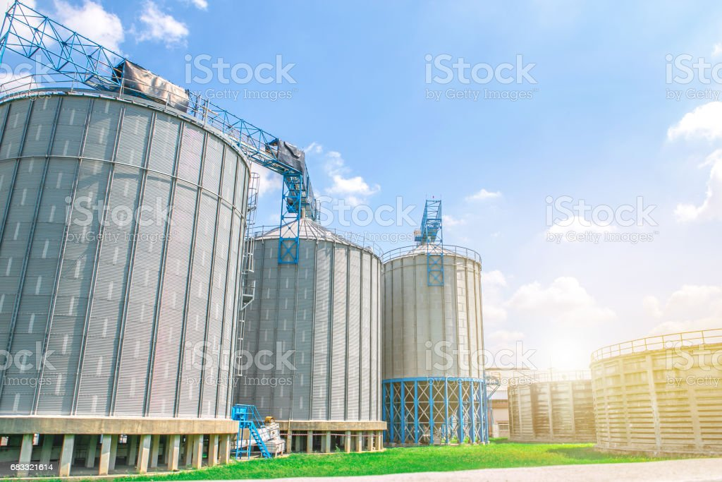 Industrial view at oil refinery plant form industry zone zbiór zdjęć royalty-free