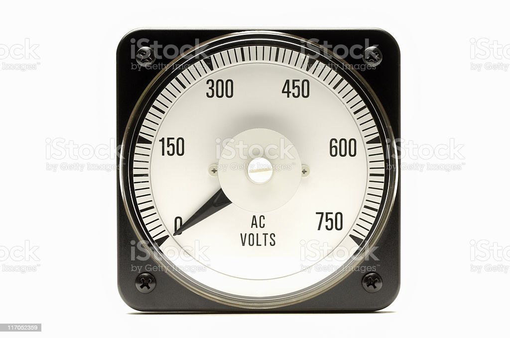 Industrial voltmeter royalty-free stock photo