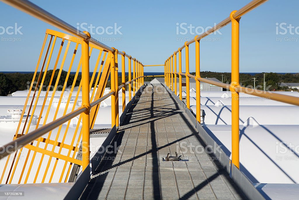 Industrial Walkway royalty-free stock photo