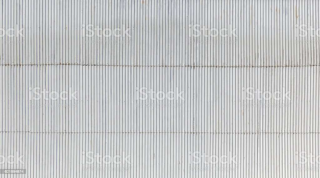 Industrial wall made of corrugated metal stock photo