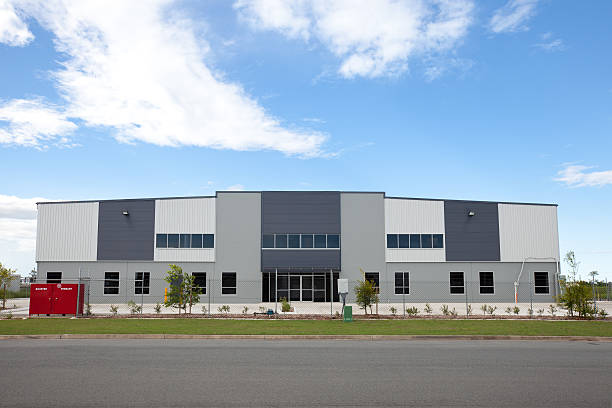 Industrial Warehouse Building stock photo