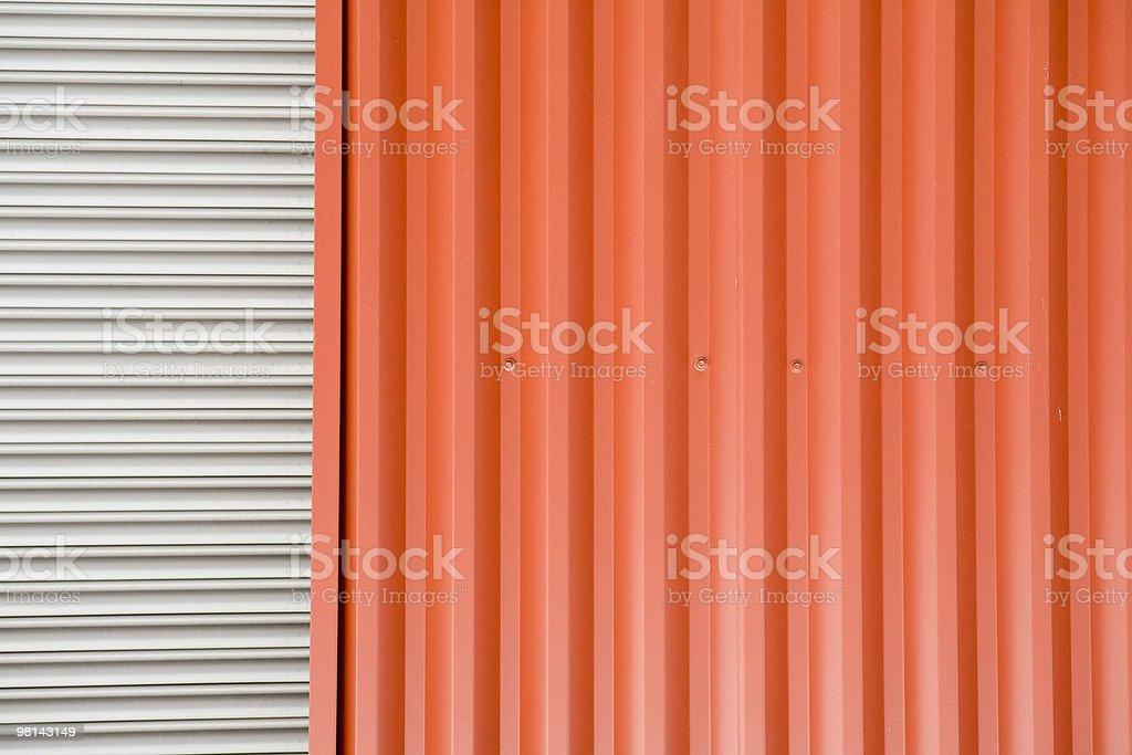 Magazzino industriale metallo ondulato a parete sfondi, texture e motivi foto stock royalty-free