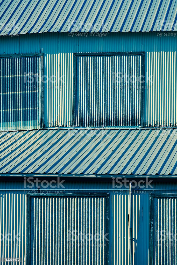 Industrial Warehouse (Cross Processed) royalty-free stock photo