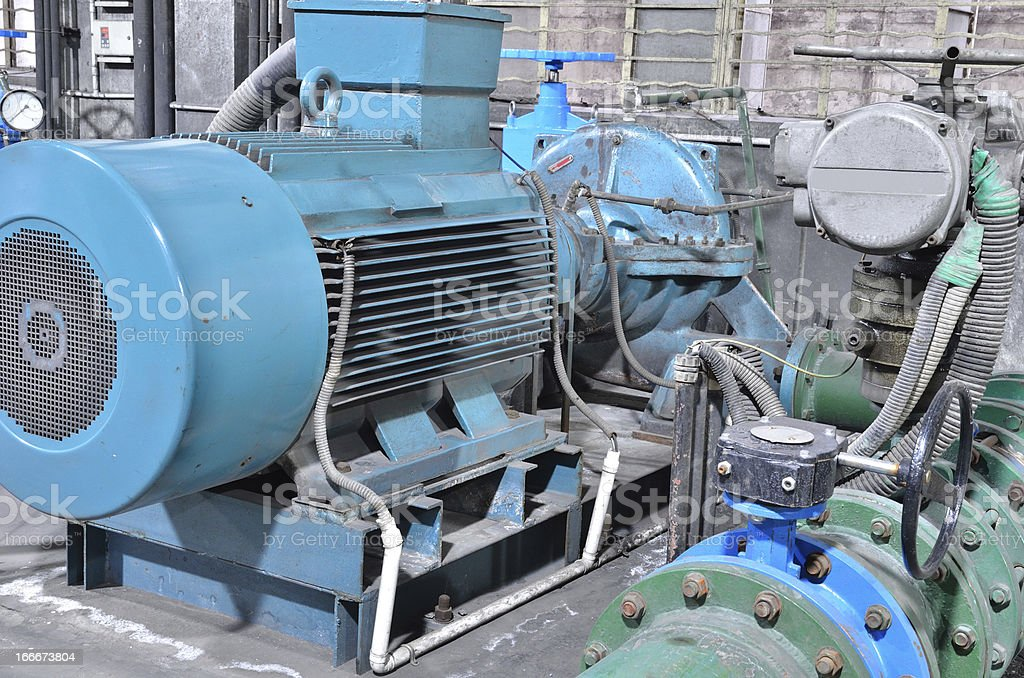 Industrial water pump royalty-free stock photo