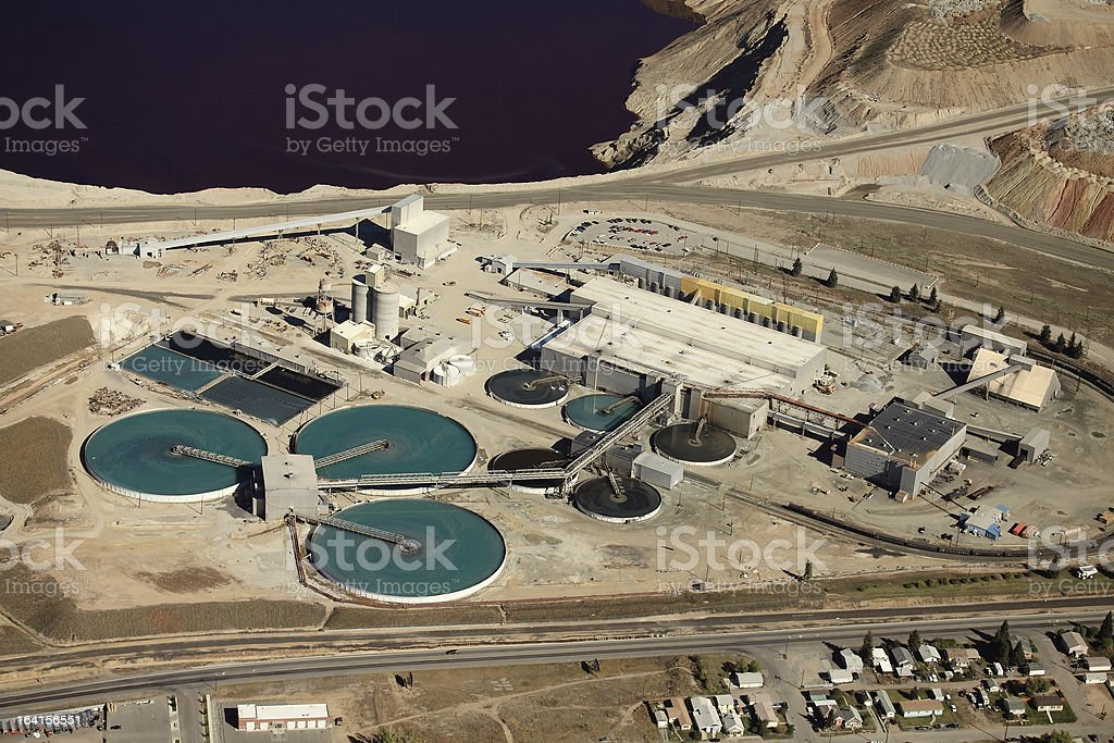 Industrial water treatment royalty-free stock photo