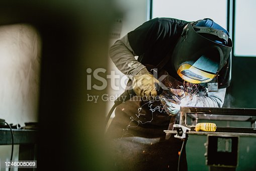 Professional welder and mask welding