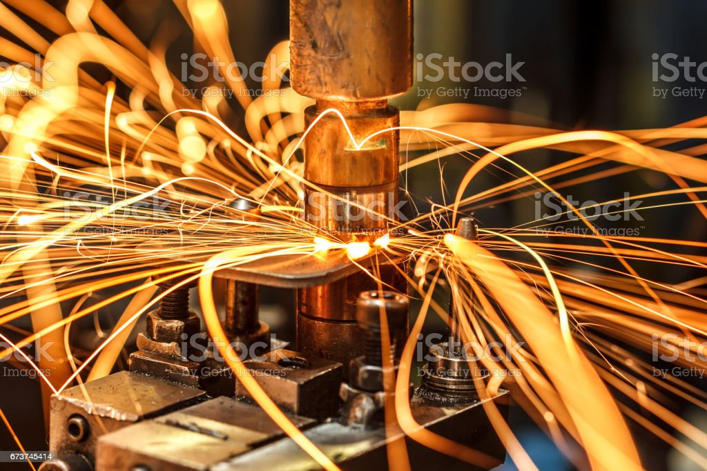 Industrial welding automotive in thailand royalty-free stock photo