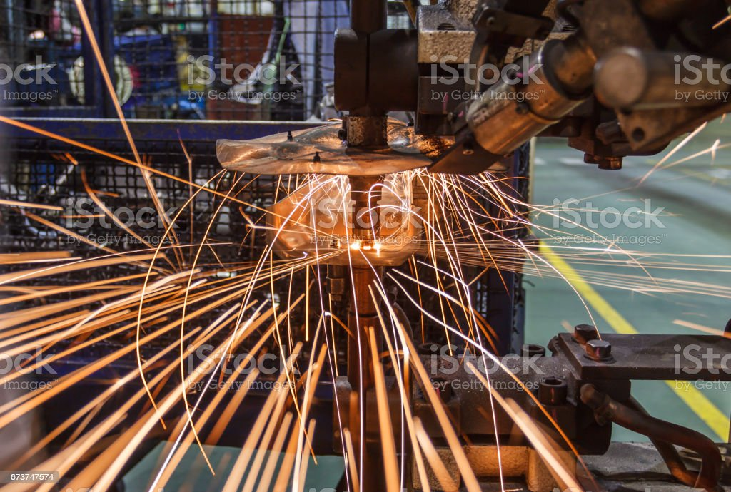 Industrial welding automotive in thailand photo libre de droits