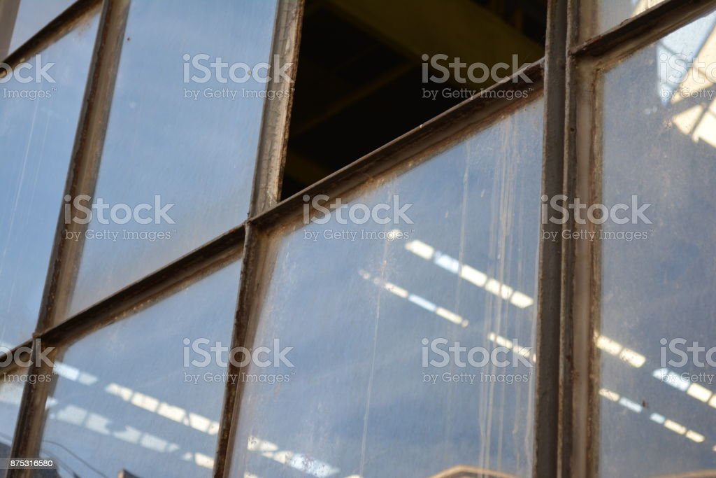 Industrial windows stock photo