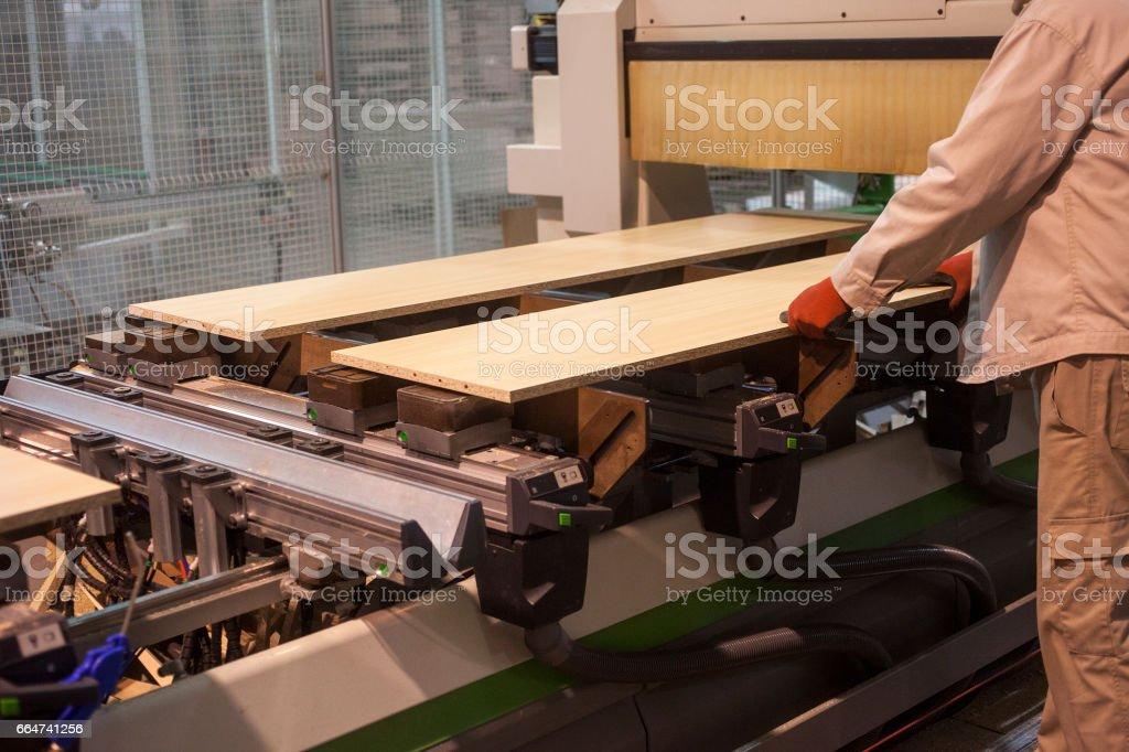 industrielle Holzverarbeitung Lizenzfreies stock-foto