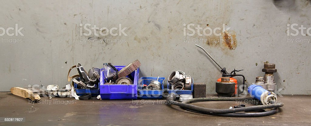 Industrial Work Bench stock photo