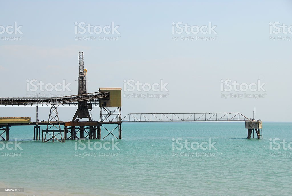 Industrial Work Pier royalty-free stock photo