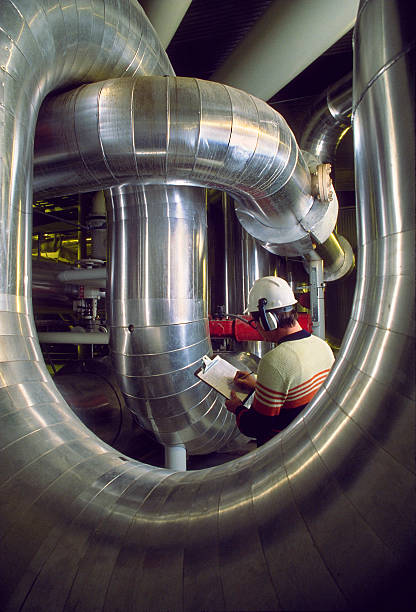 Industrial Worker, Inspector stock photo