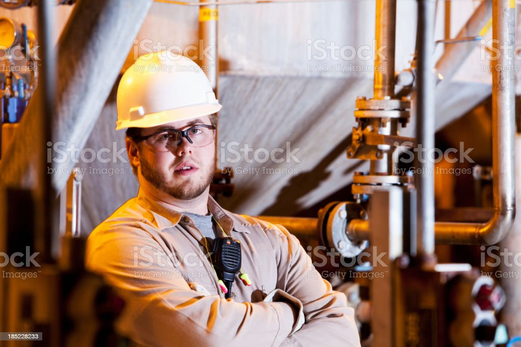 Industrial worker royalty-free stock photo