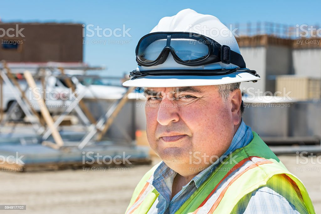 Industrial worker stock photo