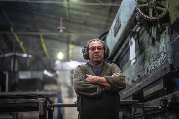 industrial worker portrait - metallurgy stock photos and pictures