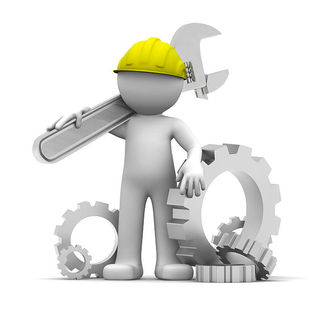 Cartoon Of A Mechanical Engineer Stock Photos, Pictures ...