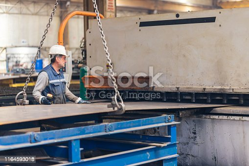 Industrial Workers Working at Metallurgy - Brake press operator