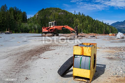 Industrial logging area located on northern Vancouver Island.