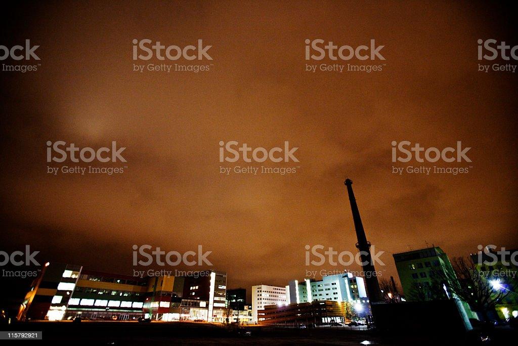 industrial zone bei Nacht – Foto