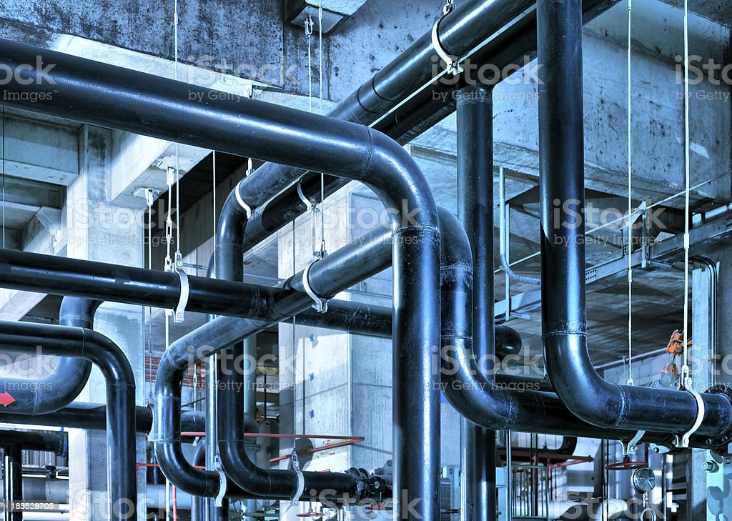 Industrial Zone pipeline stock photo