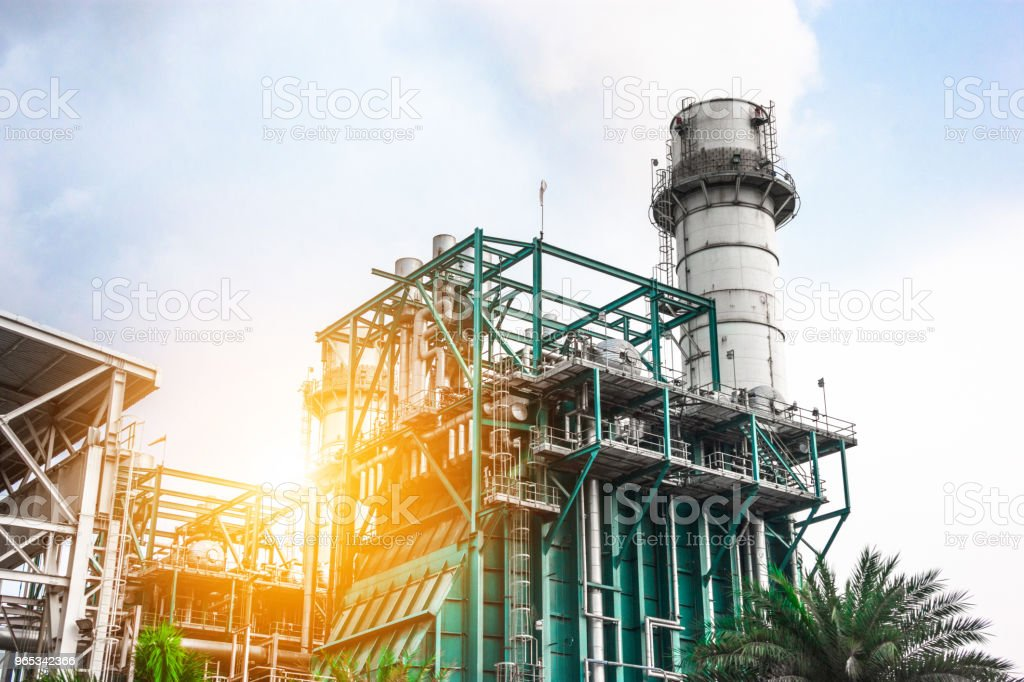 Industrial zone. Plant oil and gas refinery industry. royalty-free stock photo