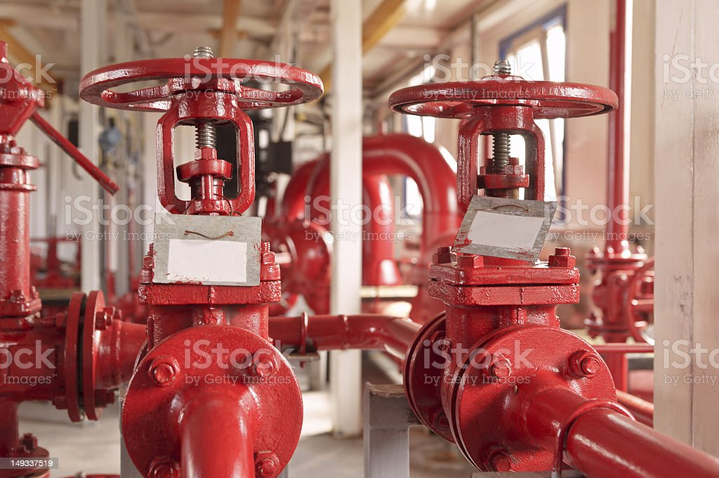 Industrial zone, valve pipelines royalty-free stock photo