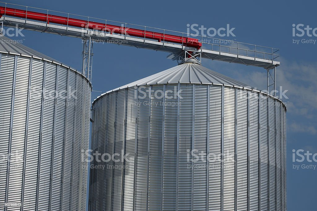 Industrial/Agriculture Silos stock photo