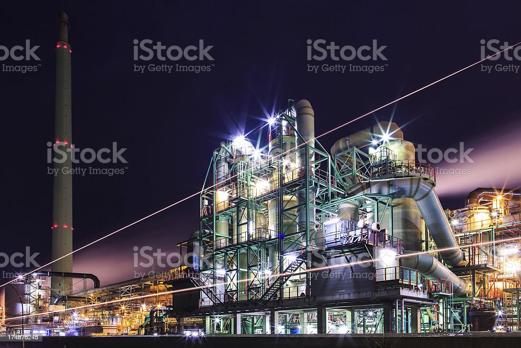 Industrie at twilight royalty-free stock photo