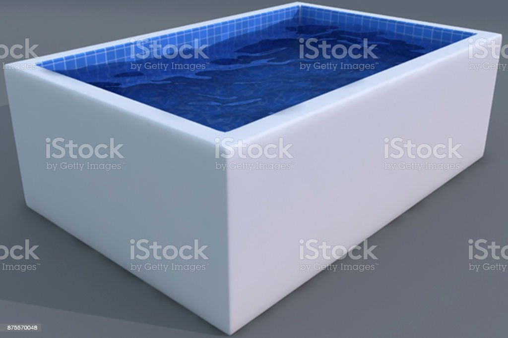 Industry 4.0 3D basin model. stock photo