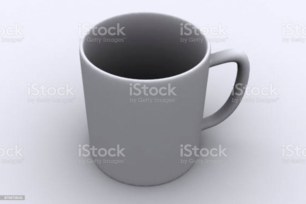 Industry 4.0 3D shaped cup stock photo
