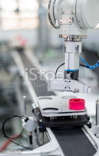 1167121815 istock photo Industry 4.0 concept; artificial intelligence in smart factory 1149727576