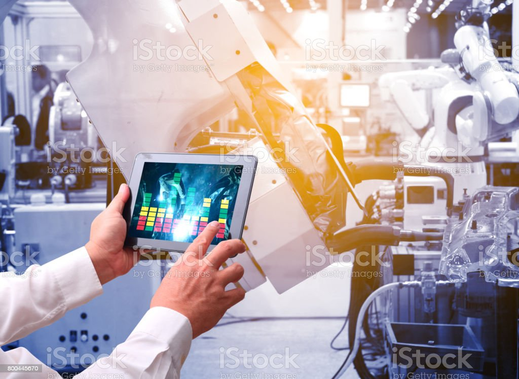 industry 4.0 concept stock photo