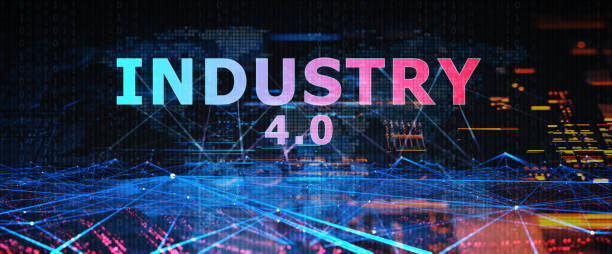 industry 4.0 digital concept - industrial revolution stock pictures, royalty-free photos & images