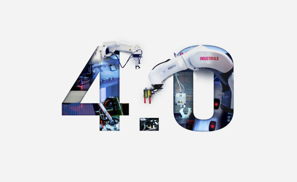 Industry 4.0 double exposure concept. 3D printing, Automation, Robotic arm and Autonomous industrial technology. Industry 4.0 double exposure concept. 3D printing, Automation, Robotic arm and Autonomous industrial technology. number 4 stock pictures, royalty-free photos & images