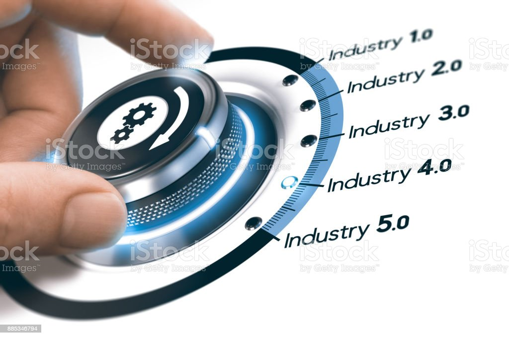 Industry 4.0, Next Industrial Revolution stock photo