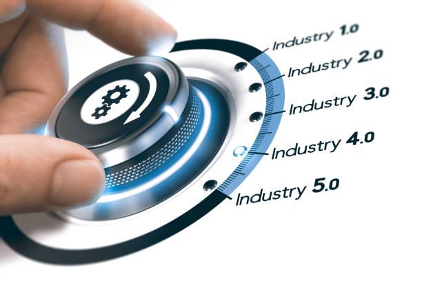 Industry 4.0, Next Industrial Revolution stock photo