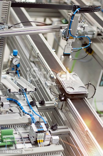 istock Industry 4.0 smart factory concept; artificial intelligence in production 1164840262