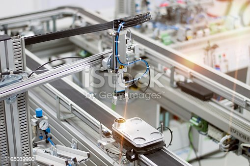 istock Industry 4.0 smart factory concept; artificial intelligence in production 1165039960