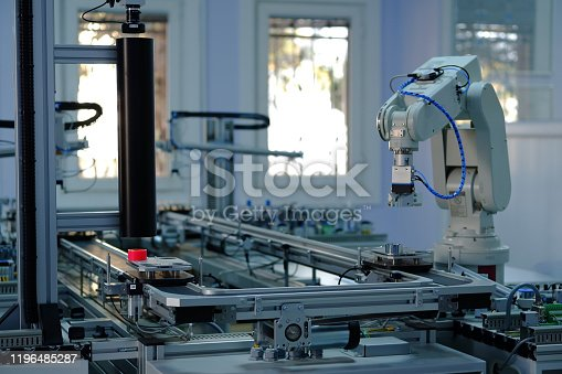 istock Industry 4.0 smart factory concept; artificial intelligence in production. 1196485287
