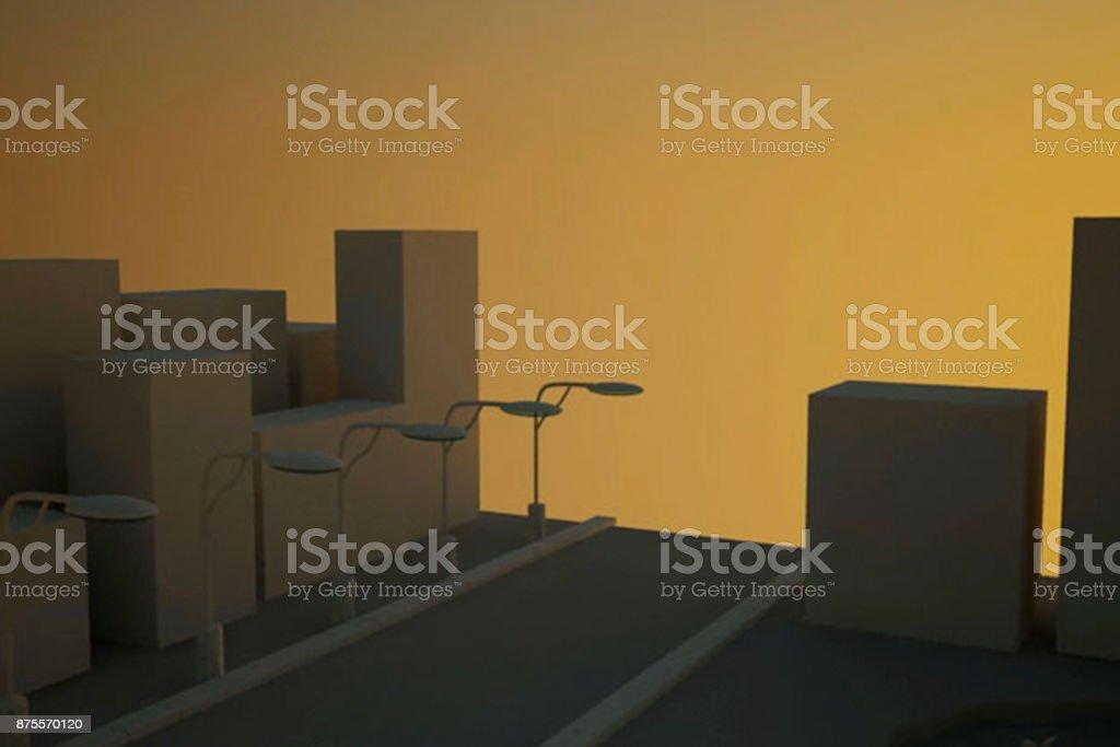 Industry 4.0 sunset light stock photo