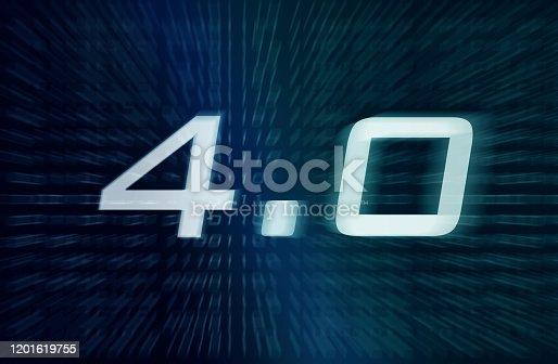 1190871157 istock photo Industry 4.0 Symbol 1201619755