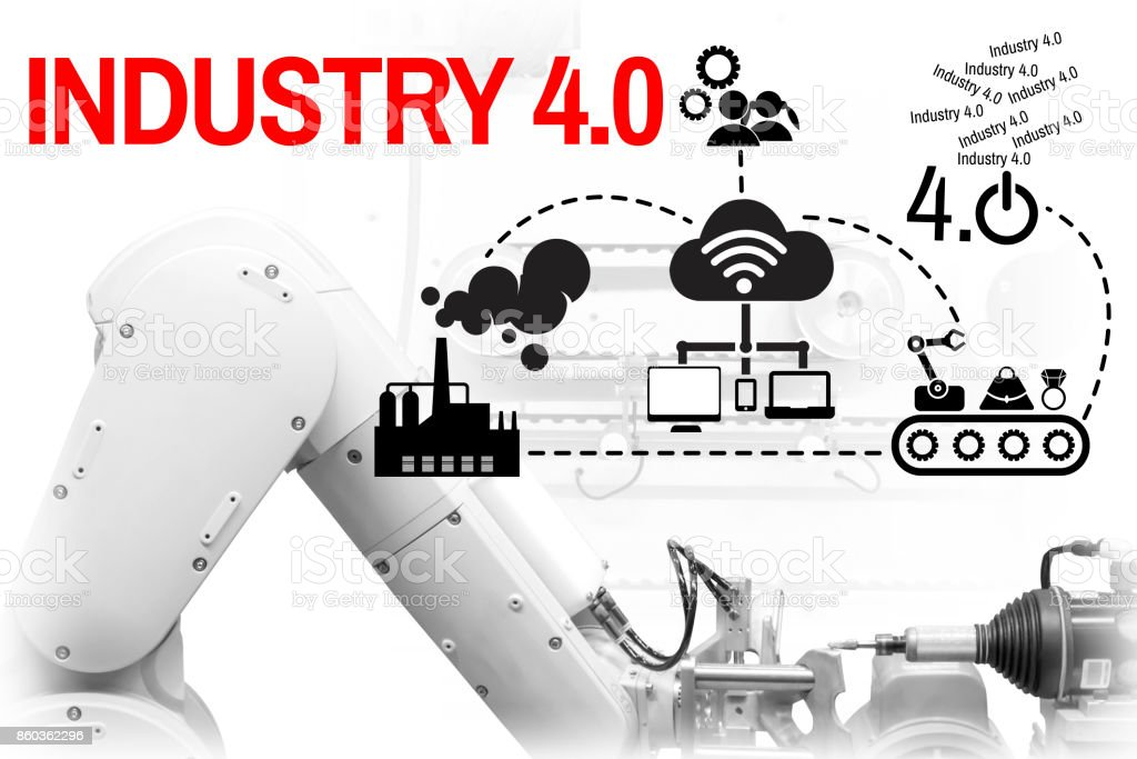 Industry 40 The Future Revolution Cyber Physical Systems Of Productivity Stock Photo Download Image Now Istock