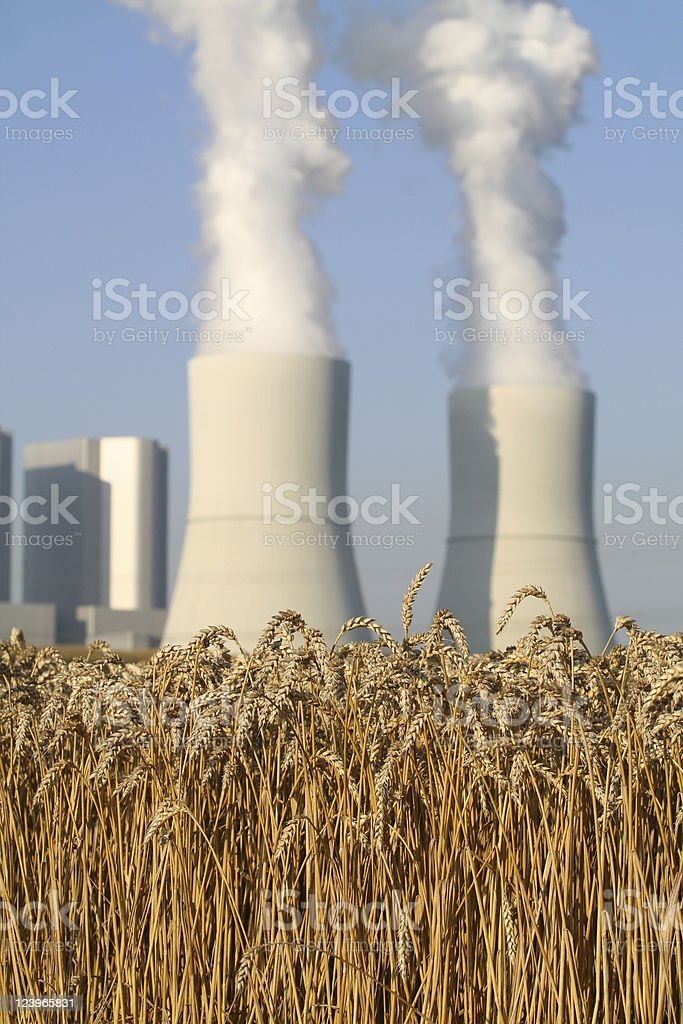 Industry and Agriculture stock photo