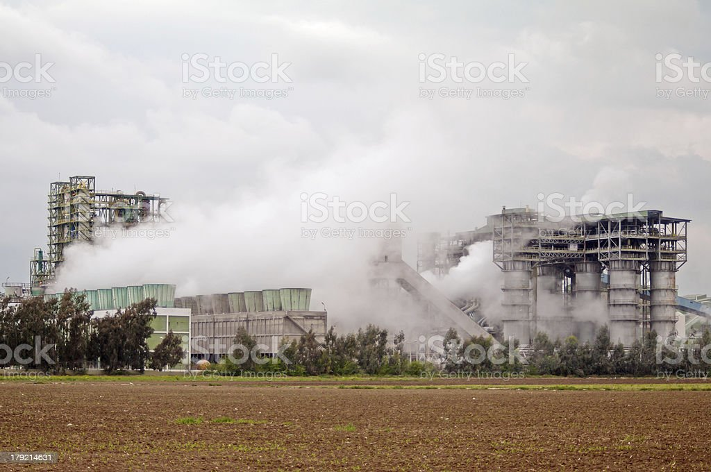 Industry and Air Pollution royalty-free stock photo