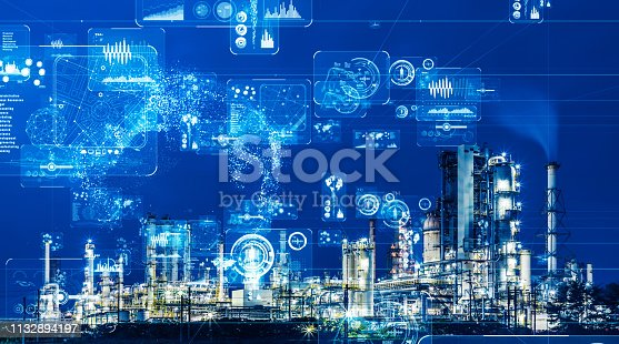 istock Industry and data analytics concept. GUI (Graphical User Interface). 1132894197