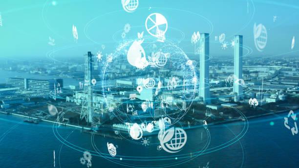 産業と環境の概念。持続可能な開発目標。sdgs. - sustainability ストックフォトと画像