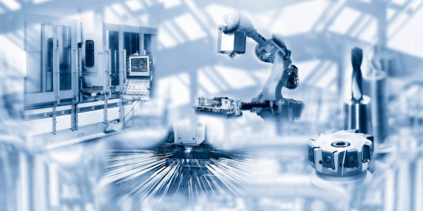 Industry and production Machines and tools in the automated industry mechanical engineering stock pictures, royalty-free photos & images